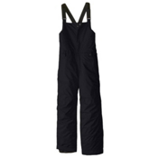 686 Cornice Insulated Bib Kids Snowboard Pants, Black, medium