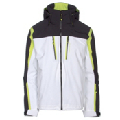 Obermeyer Trilogy 3 in 1 Mens Insulated Ski Jacket, White, medium