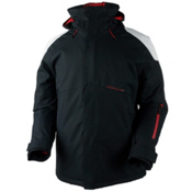 Obermeyer Foundation Tall Mens Insulated Ski Jacket, Black, medium