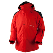 Obermeyer Foundation Tall Mens Insulated Ski Jacket, Red, medium
