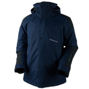 Obermeyer Foundation Tall Mens Insulated Ski Jacket, Storm Cloud, medium