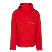 Obermeyer Foundation Mens Insulated Ski Jacket, Red, medium