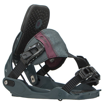 Flow Minx Hybrid Womens Snowboard Bindings 2017, Slate, viewer
