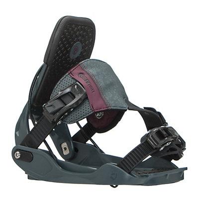 Flow Minx Hybrid Womens Snowboard Bindings, Slate, viewer