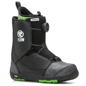 Flow Micron Boa Kids Snowboard Boots, Black, medium