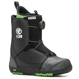 Flow Micron Boa Kids Snowboard Boots 2017, Black, 256