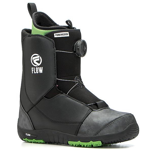 Flow Micron Boa Kids Snowboard Boots 2017, Black, 600
