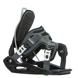 Flow Micron Youth Kids Snowboard Bindings 2017, Black, 256