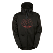 686 Icon Bonded Zip Fleece Mens Hoodie, Black, medium