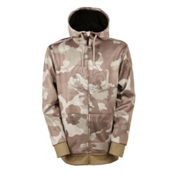 686 Icon Bonded Zip Fleece Mens Hoodie, Khaki Camo, medium