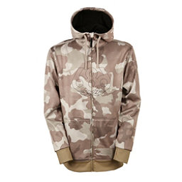 686 Icon Bonded Zip Fleece Mens Hoodie, Khaki Camo, 256