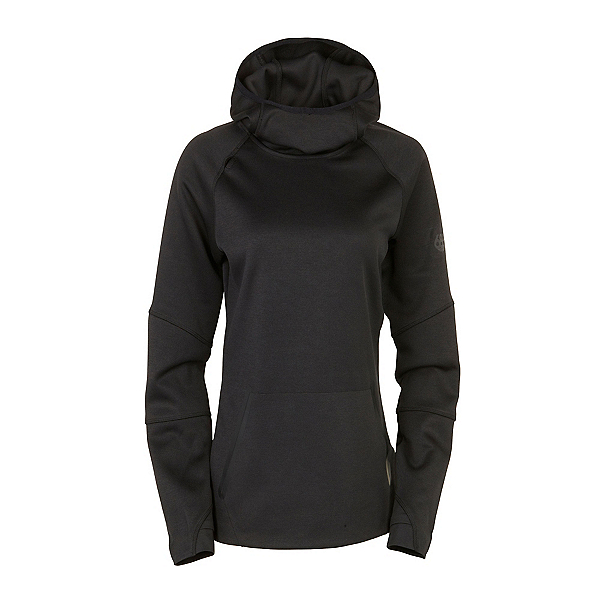 686 GLCR Storm Tech Fleece Pullover Womens Hoodie, Black, 600