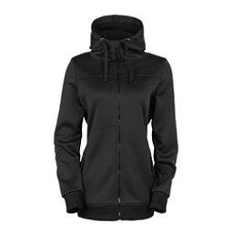 686 Ella Bonded Fleece Zip Womens Hoody, Black, 256