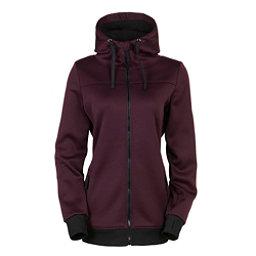 686 Ella Bonded Fleece Zip Womens Hoody, Black Ruby, 256