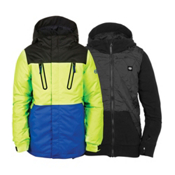 686 Smarty Merge Boys Snowboard Jacket, Mantis Green Colorblock, medium