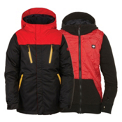 686 Smarty Merge Boys Snowboard Jacket, Black Colorblock, medium