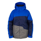 686 Grid Insulated Boys Snowboard Jacket, Cobalt Colorblock, medium