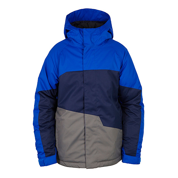 686 Grid Insulated Boys Snowboard Jacket, Cobalt Colorblock, 600