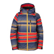 686 Jinx Insulated Boys Snowboard Jacket, Red Stripe, medium