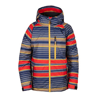 686 Jinx Insulated Boys Snowboard Jacket, Red Stripe, viewer