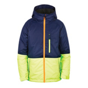 686 Jinx Insulated Boys Snowboard Jacket, Midnight Blue Colorblock, medium
