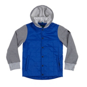 686 Bedwin Insulated Boys Snowboard Jacket, Cobalt Blue, medium