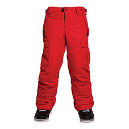 686 All Terrain Insulated Kids Snowboard Pants, Red, 256
