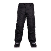 686 All Terrain Insulated Kids Snowboard Pants, Black, medium
