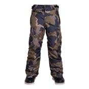 686 All Terrain Insulated Kids Snowboard Pants, Olive Geo Camo, medium