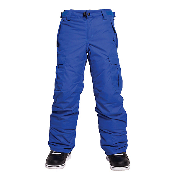 686 All Terrain Insulated Kids Snowboard Pants, Cobalt, 600