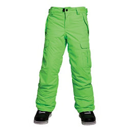 686 All Terrain Insulated Kids Snowboard Pants, Mantis Green, 256