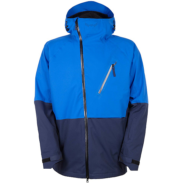 686 GLCR Hydra Thermagraph Mens Insulated Snowboard Jacket, Cobalt Colorblock, 600
