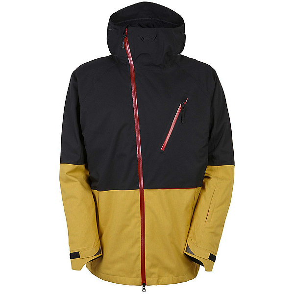 686 GLCR Hydra Thermagraph Mens Insulated Snowboard Jacket, Harvest Gold Colorblock, 600