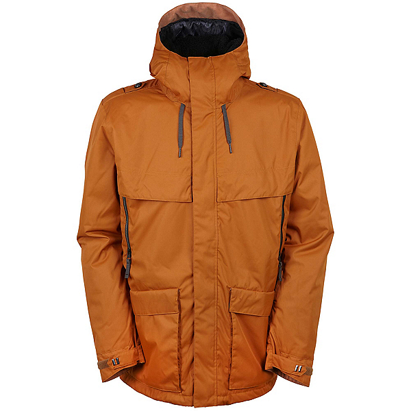 686 Parklan Field Mens Insulated Snowboard Jacket, Cognac, 600