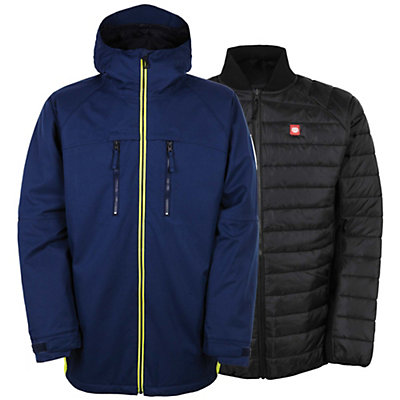 686 Authentic Smarty Automatic Mens Insulated Snowboard Jacket, Midnight Blue Colorblock, viewer