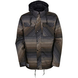 686 Authentic Woodland Mens Insulated Snowboard Jacket, Olive Yarn Dye Stripe, 256