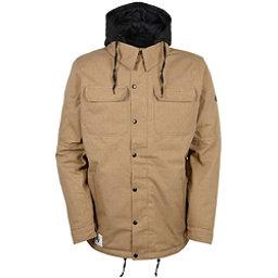 686 Authentic Woodland Mens Insulated Snowboard Jacket, Khaki Melange, 256