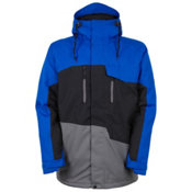 686 Authentic Geo Mens Insulated Snowboard Jacket, Cobalt Colorblock, medium