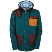 686 Forest Bailey Cosmic Happy Mens Insulated Snowboard Jacket, Black Jade Colorblock, medium