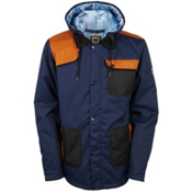 686 Forest Bailey Cosmic Happy Mens Insulated Snowboard Jacket, Midnight Blue Colorblock, medium