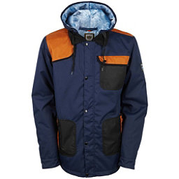 686 Forest Bailey Cosmic Happy Mens Insulated Snowboard Jacket, Midnight Blue Colorblock, 256
