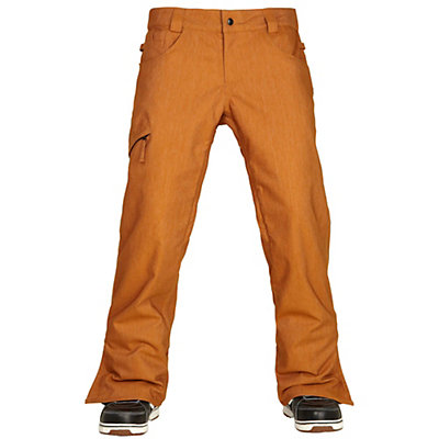 686 Authentic Raw Insulated Mens Snowboard Pants, Cognac Denim, viewer