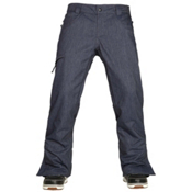 686 Authentic Raw Insulated Mens Snowboard Pants, Midnight Blue Denim, medium