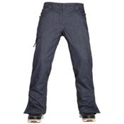 686 Authentic Raw Insulated Mens Snowboard Pants, Midnight Blue Denim, medium