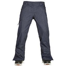 686 Authentic Raw Insulated Mens Snowboard Pants, Midnight Blue Denim, 256