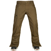 686 Authentic Raw Insulated Mens Snowboard Pants, Olive Denim, medium