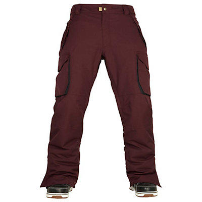 686 Authentic Infinity Cargo Mens Snowboard Pants, Black Ruby, viewer