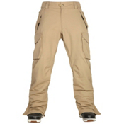 686 Authentic Infinity Cargo Mens Snowboard Pants, Khaki, medium