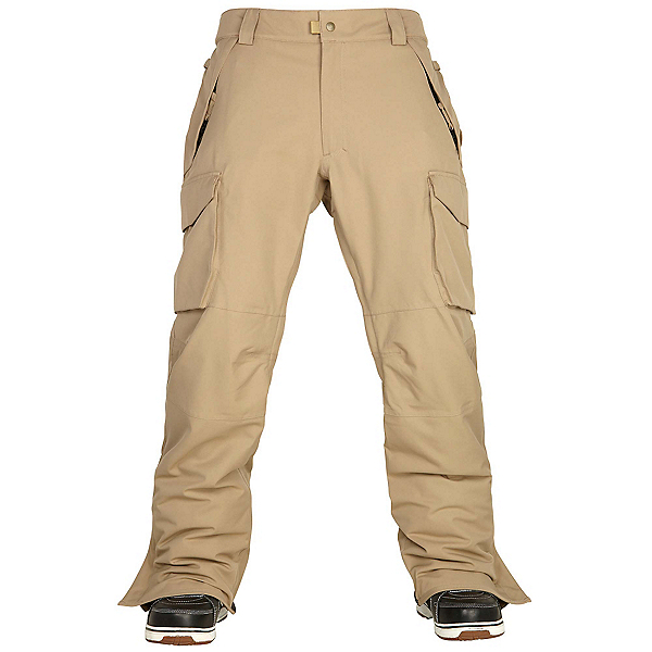 686 Authentic Infinity Cargo Mens Snowboard Pants, Khaki, 600