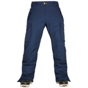 686 Authentic Infinity Cargo Mens Snowboard Pants, Midnight Blue, medium